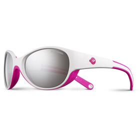 Julbo Kids 4-6Y Lily Spectron 3+ Sunglasses White/Fluorescent Pink-Gray Flash Silver